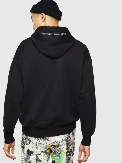 Diesel - S-ALBY-COPY-J1, Black - Sweatshirts - Image 3