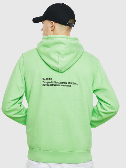 Diesel - S-GIRK-HOOD-FLUO, Green Fluo - Sweatshirts - Image 3
