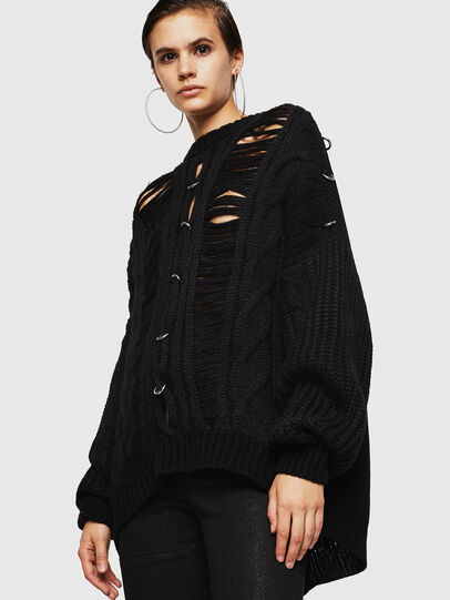 Diesel - MEBLY, Noir - Pull Maille - Image 1