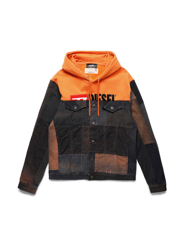 D-BNHILL55, Orange - Vestes en denim