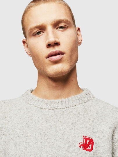 Diesel - K-CASY, Gris Clair - Pull Maille - Image 4