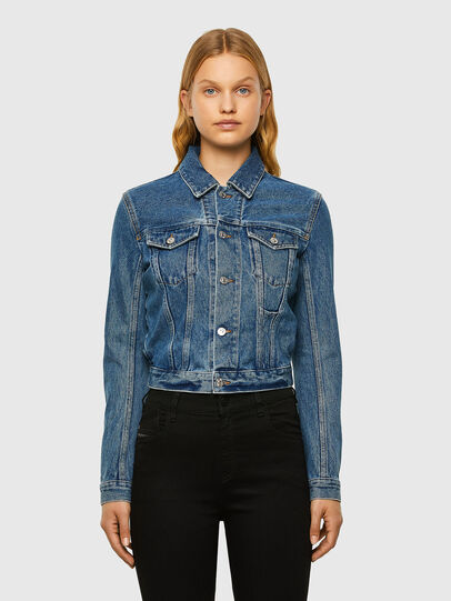 Diesel - DE-NINO, Medium Blue - Denim Jackets - Image 1