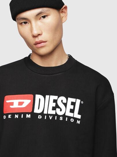 Diesel - S-CREW-DIVISION, Black - Sweatshirts - Image 3