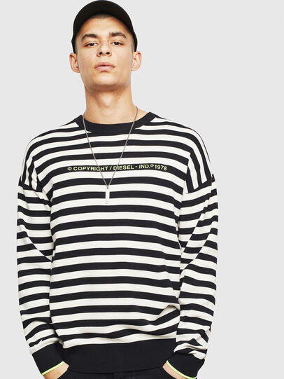 Diesel - K-SLASSH, Black/White - Sweaters - Image 1