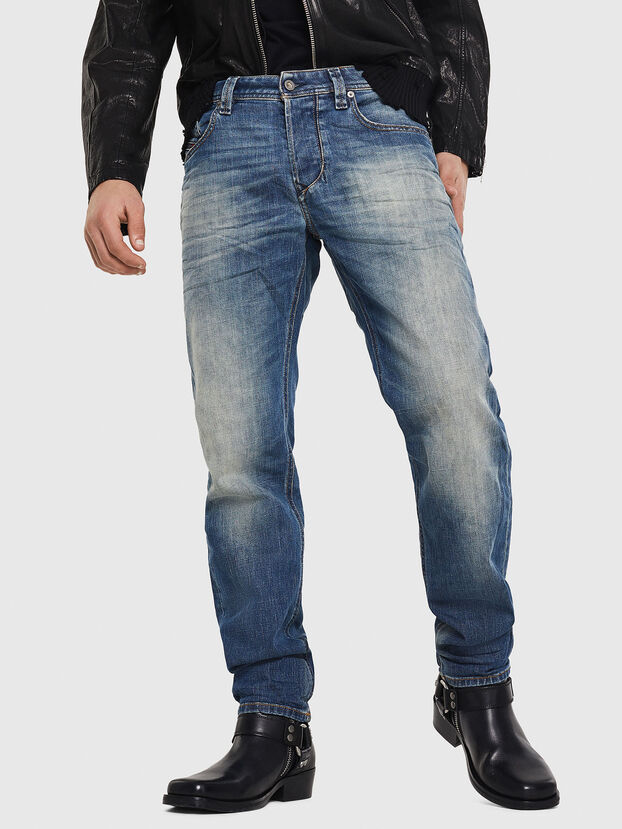 Larkee-Beex 089AR, Bleu Foncé - Jeans