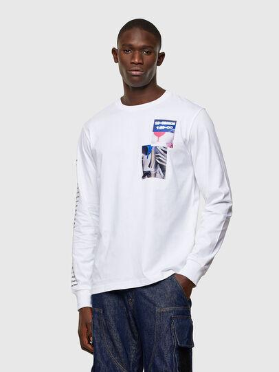Diesel - T-JUST-LS-A10, Blanc - T-Shirts - Image 1