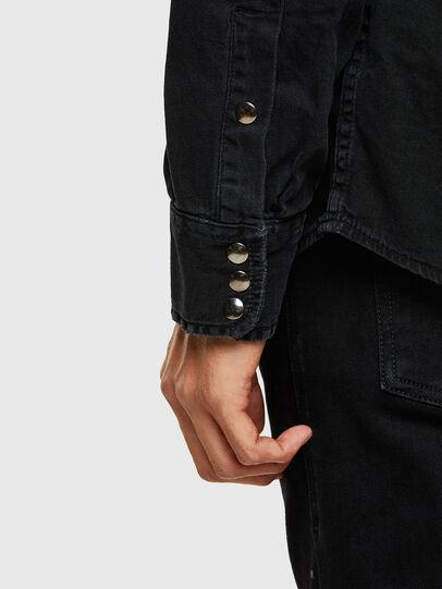 Diesel - D-WEAR-B1, Black - Denim Shirts - Image 4