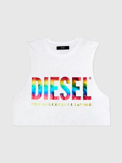 Diesel - BFOWT-MUSCLE-ROUNDIE, Blanc - Haut - Image 1