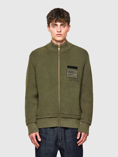 Diesel - K-MEXICO, Olive Green - Sweaters - Image 1