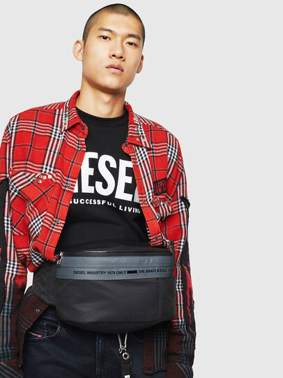 Diesel - FELTRE BIG, Black/Blue - Belt bags - Image 6