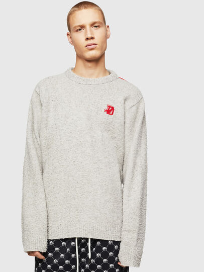 Diesel - K-CASY, Gris Clair - Pull Maille - Image 1