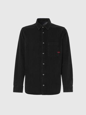 D-WEAR-B1, Noir - Chemises en Denim