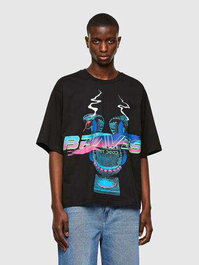 Diesel - T-DELPHI-E1, Noir - T-Shirts - Image 1
