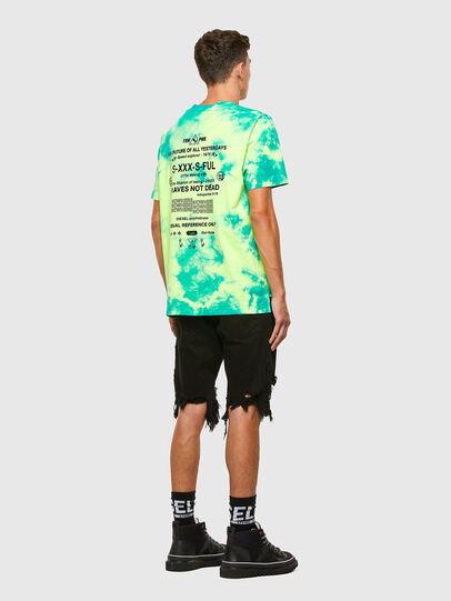 Diesel - T-JUST-SLITS-X86, Green/Yellow - T-Shirts - Image 6