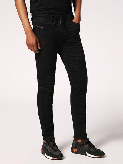 Diesel - Bakari JoggJeans 0678E, Black/Dark Grey - Jeans - Image 3