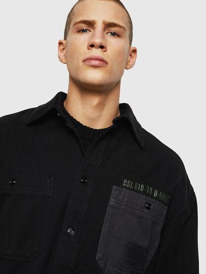 Diesel - S-LEBED, Noir - Chemises - Image 3