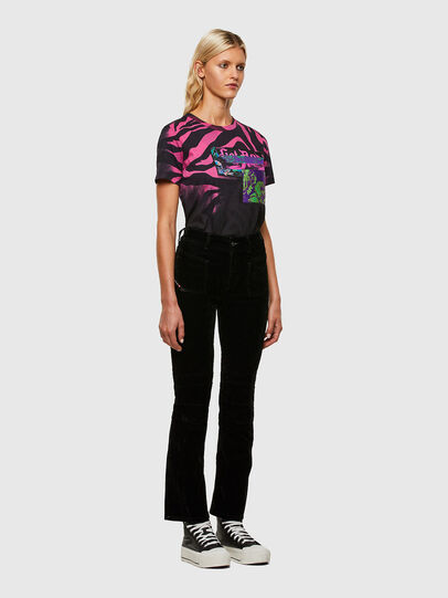 Diesel - T-SILY-R3, Noir/Rose - T-Shirts - Image 5