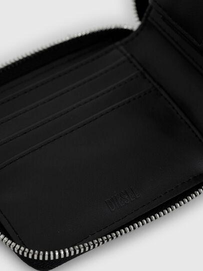 Diesel - HIRESH XS ZIPPI, Black - Zip-Round Wallets - Image 4