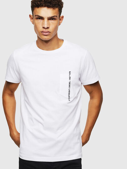 Diesel - T-RUBIN-POCKET-J1, Blanc - T-Shirts - Image 5