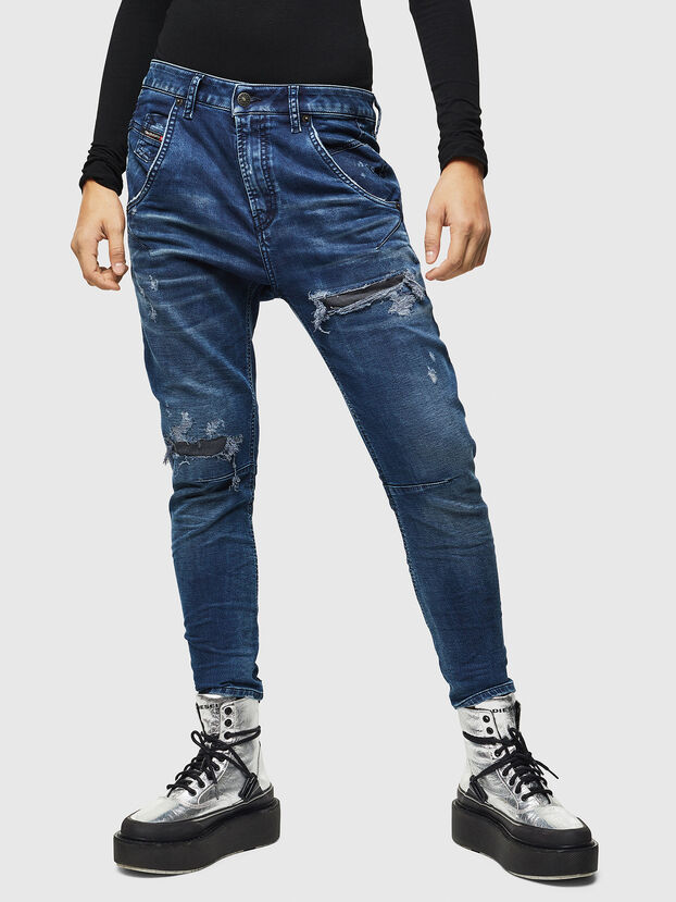 Fayza JoggJeans 069JE, Bleu Foncé - Jeans