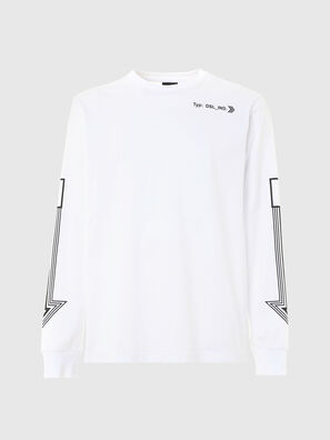 T-JUST-LS-A8, Blanc - T-Shirts