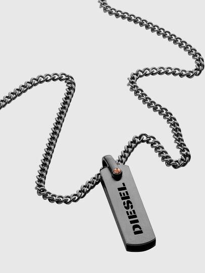 Diesel - DX1206, Silver - Necklaces - Image 2