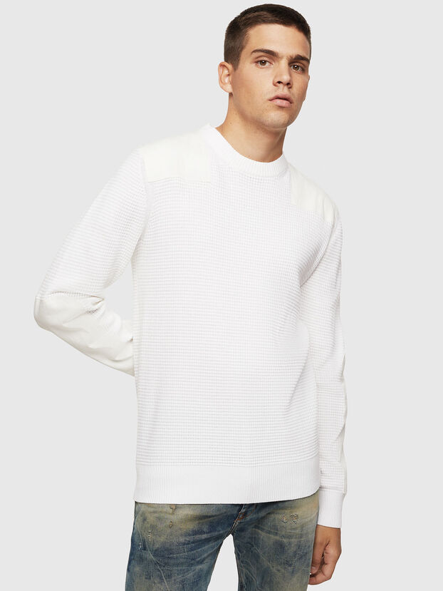 K-LESTER, Blanc - Pull Maille