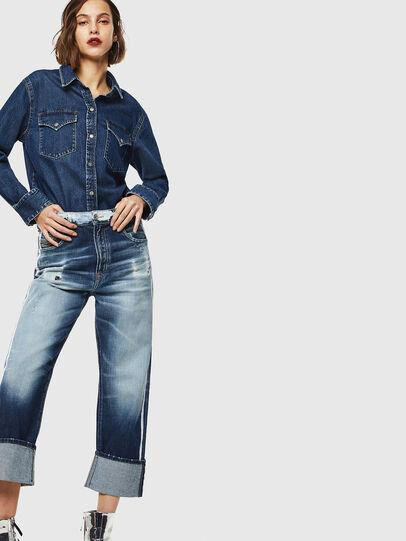 Diesel - D-Reggy 0096S, Bleu moyen - Jeans - Image 6