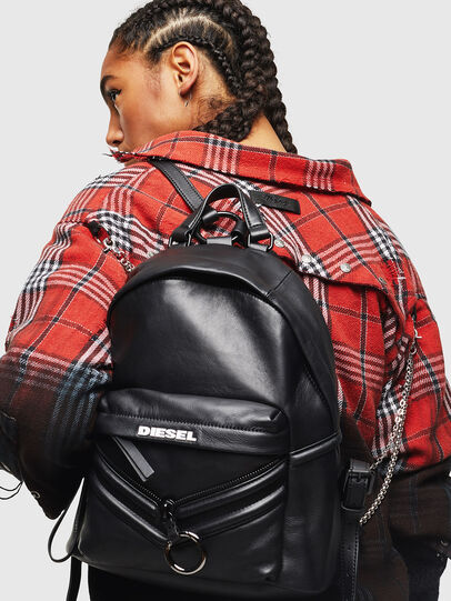 Diesel - LE-ZIPPER BACKPACK, Noir - Sacs à dos - Image 7