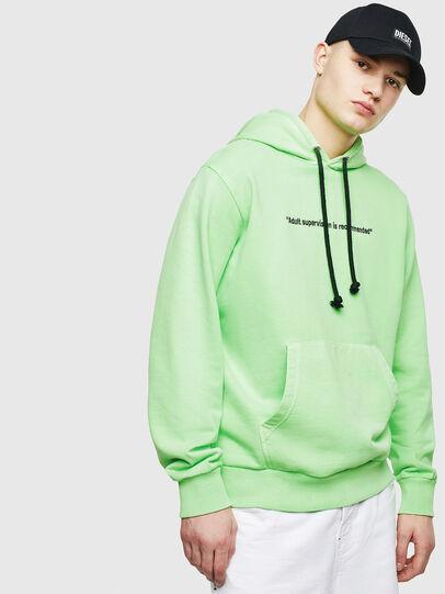 Diesel - S-GIRK-HOOD-FLUO, Green Fluo - Sweatshirts - Image 1