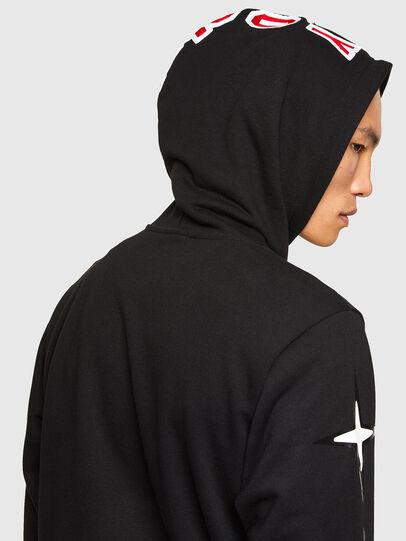 Diesel - CL-S-GIRK-HOOD-O1, Black - Sweatshirts - Image 5