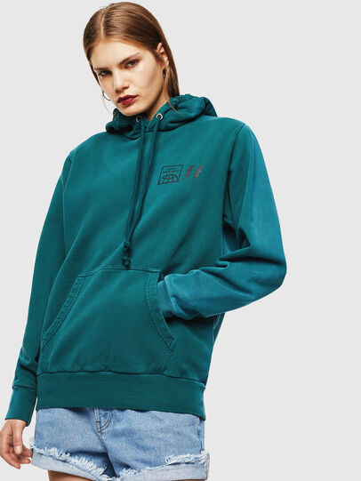 Diesel - S-GIRK-HOOD-SUN, Dark Green - Sweatshirts - Image 2