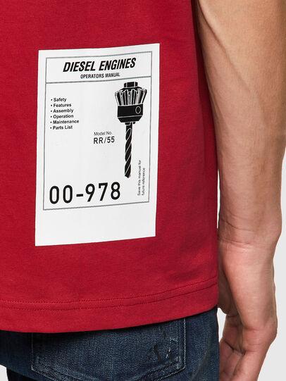 Diesel - T-JUST-B62, Marron - T-Shirts - Image 3