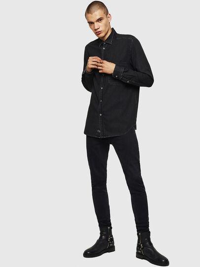 Diesel - D-BER-P, Noir - Chemises en Denim - Image 5