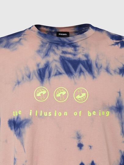 Diesel - T-JUST-SLITS-X86, Rose/Bleu - T-Shirts - Image 3