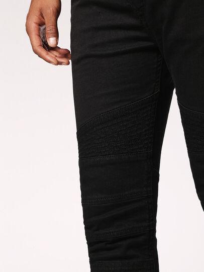 Diesel - Bakari JoggJeans 0678E, Black/Dark Grey - Jeans - Image 5