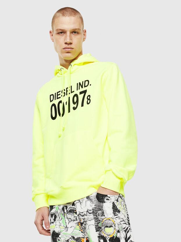 S-GIRK-HOOD, Yellow Fluo - Sweatshirts