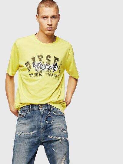 Diesel - T-JUST-B25, Jaune - T-Shirts - Image 4