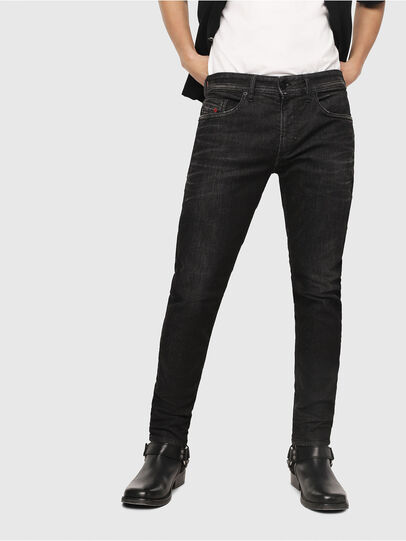 Diesel - Thommer JoggJeans 0077U, Black/Dark Grey - Jeans - Image 1