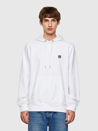 Diesel - S-GIRK-HOOD-K21, White - Sweatshirts - Image 1