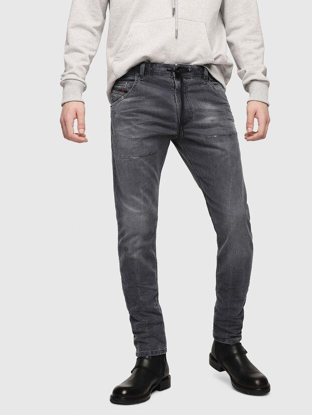 Krooley JoggJeans 069EP, Noir/Gris foncé - Jeans