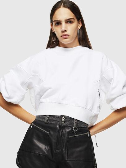 Diesel - F-MONDY, Blanc - Pull Cotton - Image 4