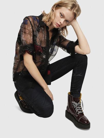 Diesel - Gracey JoggJeans 069CG, Bleu Foncé - Jeans - Image 4