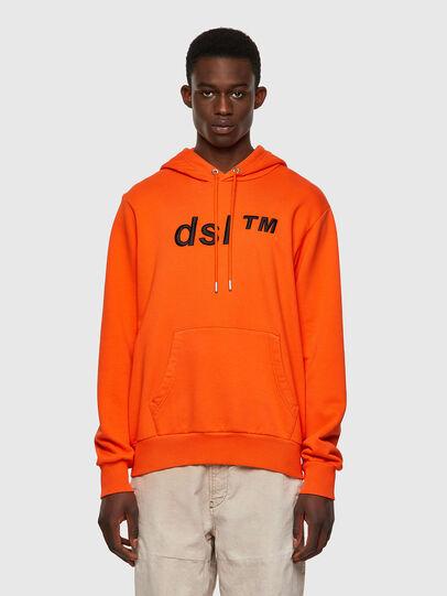 Diesel - S-GIRK-HOOD-B4, Orange - Pull Cotton - Image 1