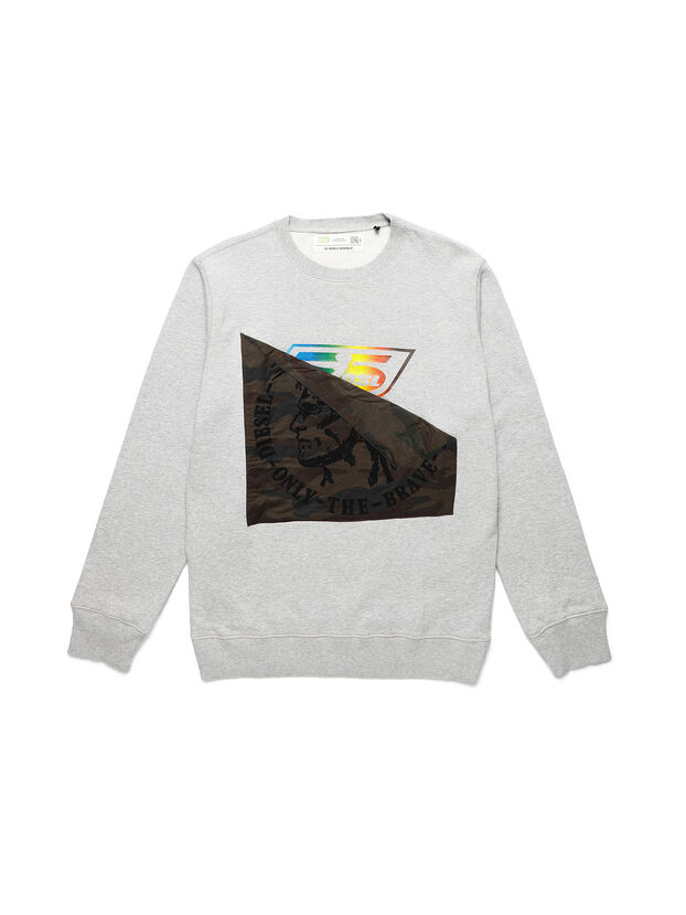 D-HALF&HALF, Grey - Sweatshirts