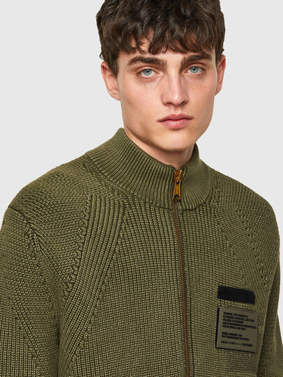 Diesel - K-MEXICO, Olive Green - Sweaters - Image 3