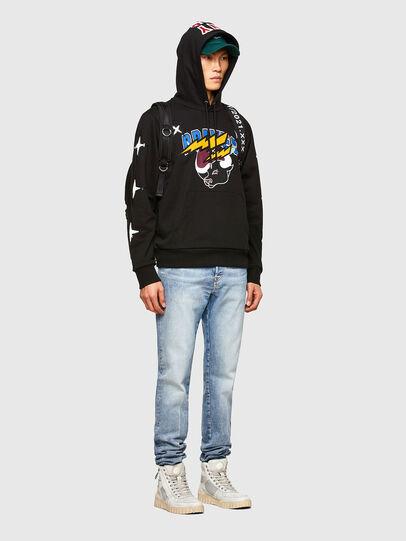 Diesel - CL-S-GIRK-HOOD-O1, Black - Sweatshirts - Image 7