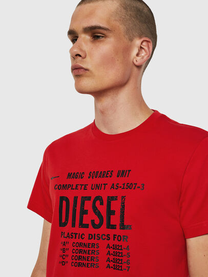 Diesel - T-DIEGO-B6, Rouge Flamme - T-Shirts - Image 3