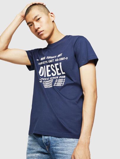 Diesel - T-DIEGO-B6, Bleu - T-Shirts - Image 1