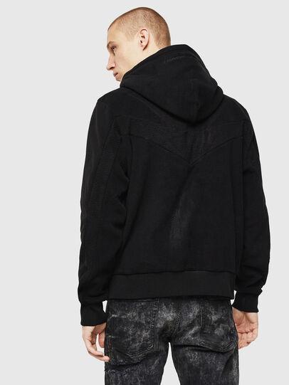Diesel - S-NOREEN-ZIP, Black - Sweatshirts - Image 2
